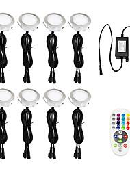 abordables -Pack de 8 Spots LED Eclairage,Encastrable Extérieur IP67 Acier inoxydable Spots à Encastrer pour Terrasse Bois Plafond 2W 100-240V lumière Blanc Chaud Spot LED Lampe Extérieur