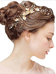 cheap -Alloy Headbands with Flower Comb / Flower 1 Piece Wedding / Party / Evening Headpiece