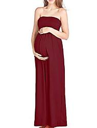 cheap -Women's Maternity Maxi Tunic Dress Navy Blue Purple Wine M L XL