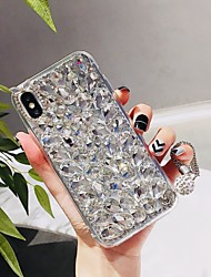 cheap -Case For Apple iPhone XS / iPhone XR / iPhone XS Max Rhinestone Back Cover Tile Hard TPU