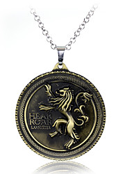 cheap -Game of Thrones Necklace Dainty Retro Halloween Alloy Necklace For Masquerade Party / Cocktail Halloween Carnival Men's Women's Costume Jewelry Fashion Jewelry