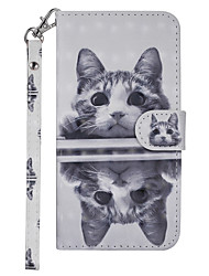 cheap -Case For Nokia Nokia 3.1 Wallet / Card Holder / with Stand Full Body Cases Cat Hard PU Leather