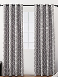 cheap -Contemporary Blackout One Panel Curtain Living Room   Curtains / Jacquard