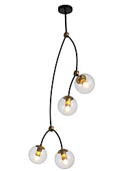 cheap -ZHISHU 4-Light 35 cm WIFI Control Chandelier Metal Glass Sputnik Industrial Novelty Electroplated Contemporary Chic & Modern 110-120V 220-240V