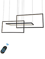 cheap -Geometric Aluminum LED Chandelier/ Novelty Modern Lights for Shop Lights Coffee Bar Living Room/ Warm White/White/Dimmable with Remote/ WIFI Smart works with Google Home Play and Amazon Echo