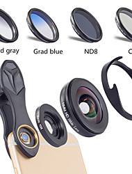 cheap -Mobile Phone Lens Lens with Filter / Wide-Angle Lens / Macro Lens Glasses / Aluminium Alloy 10X Macro 40 mm 0.16 m 110 ° Creative / New Design / Cool