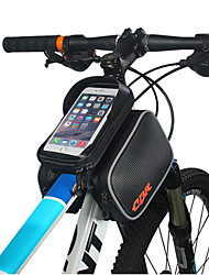 cheap -Cell Phone Bag Bike Frame Bag Top Tube 6 inch Waterproof Cycling for Cycling Black Outdoor Exercise Cycling / Bike Bike / Bicycle