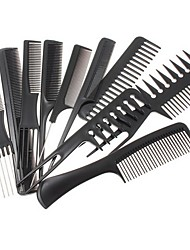 cheap -10pcs  Hair Styling Comb Set Professional Black Brush Barbers