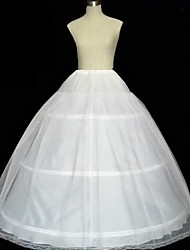 cheap -Bride Classic Lolita 1950s Dress Petticoat Hoop Skirt Crinoline Women's Girls' Cotton Costume White / Ivory Vintage Cosplay Party Performance Maxi Princess
