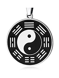 cheap -Men's Pendant Necklace Classic Faith yin yang Vintage Stainless Steel Silver 50 cm Necklace Jewelry 1pc For Gift Daily
