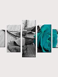 cheap -Print Rolled Canvas Prints Stretched Canvas Prints - Modern Floral / Botanical Classic Modern Five Panels Art Prints