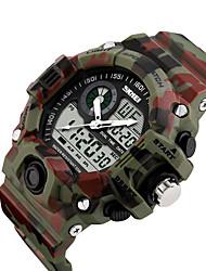 Недорогие -SKMEI Муж. электронные часы Цифровой Черный / Синий / Красный 50 m Защита от влаги Календарь С двумя часовыми поясами Цифровой На каждый день На открытом воздухе - Зеленый Синий Светло-Зеленый