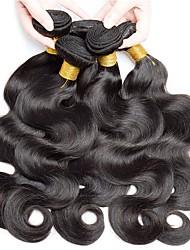 cheap -6 Bundles Brazilian Hair Body Wave Virgin Human Hair Natural Color Hair Weaves / Hair Bulk Bundle Hair One Pack Solution 8-28inch Natural Color Human Hair Weaves Newborn Waterfall Cute Human Hair
