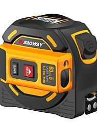 cheap -SNDWAY Laser Distance Meter 60M Tape Rangefinder Multi Function Self-Locking Hand Tester Tool Device SW-TM60