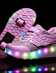 cheap -Boys' / Girls' USB Charging PU Sneakers Little Kids(4-7ys) / Big Kids(7years +) Walking Shoes Sequin Pink / Gold / Silver Spring / Fall