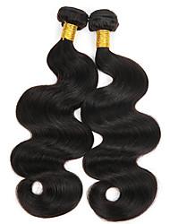 cheap -3 Bundles Indian Hair Body Wave Unprocessed Human Hair Natural Color Hair Weaves / Hair Bulk Bundle Hair Human Hair Extensions 8-28 inch Natural Color Human Hair Weaves Safety Creative Silky Human