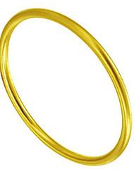 Недорогие -Жен. Браслет цельное кольцо Классический Радость Стиль Титановая сталь Браслет Ювелирные изделия Золотой Назначение Подарок Повседневные