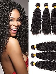 cheap -6 Bundles Indian Hair Kinky Curly Unprocessed Human Hair 100% Remy Hair Weave Bundles Natural Color Hair Weaves / Hair Bulk Bundle Hair One Pack Solution 8-28 inch Natural Color Human Hair Weaves