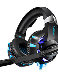 cheap -LITBest Gaming Headset Wired Sound activated LED lights Stereo with Microphone with Volume Control HIFI for Gaming
