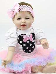 Недорогие -FeelWind Куклы реборн Мальчики Девочки 22 дюймовый Силикон - Дети / подростки обожаемый Милый Детские Универсальные Игрушки Подарок