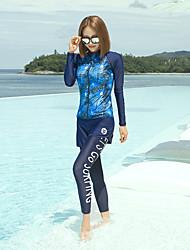 cheap -Women's Rash Guard Dive Skin Suit Diving Suit UV Sun Protection Full Body Swimming Diving Painting Summer / Micro-elastic