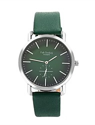 cheap -Men's Sport Watch Quartz Quilted PU Leather Black / Green / Rose No Casual Watch Analog Minimalist - Silver Fuchsia Green