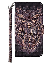 cheap -Case For Nokia Nokia 7.1 Wallet / Card Holder / with Stand Full Body Cases Animal Hard PU Leather