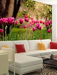 Недорогие -обои / фреска / Настенная ткань холст Облицовка стен - Клей требуется Цветочный принт / Ар деко / 3D