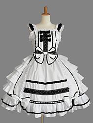 abordables -Rétro Vintage Princesse Rococo Robe Costume de Cosplay Robe sans Manches Femme Japonais Costumes de Cosplay Rose / Bleu Encre / Ivoire Mosaïque Sans Manches Mi-long / Victorienne