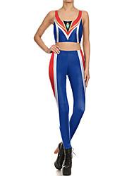 cheap -Catsuit Swimsuit Swimwear Cosplay Costumes Beach Girl Adults' Cosplay Costumes Cosplay Halloween Women's Blue Printing Christmas Halloween Carnival / Vest / Pants / Vest / Pants