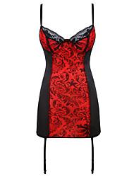 abordables -Lacet Robes Corset - Couleur Pleine / Sexy, Tendance Femme Grandes Tailles Rouge XXXXL XXXXXL XXXXXXL
