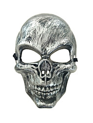 cheap -Cosplay Costume Mask Halloween Mask Inspired by Skeleton / Skull Scary Movie Golden Silver Cosplay Halloween Halloween Carnival Masquerade Adults' Men's Women's