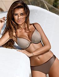 abordables -Normal Polyester Maillots de bain et Bikinis Sexy Couleur Pleine Usage quotidien Combinaison