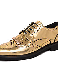 cheap -Men's Formal Shoes Synthetics Spring / Fall Casual / British Oxfords Non-slipping Black / Gold / Party & Evening