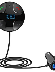 cheap -Smart Car Charger MP3 Card Bluetooth Player FM Transmitter Dual USB Cigarette Lighter for universal Black Gray