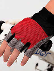 cheap -Bike Gloves / Cycling Gloves Mountain Bike Gloves Mountain Bike MTB Padded Anti-Slip Shockproof Protective Fingerless Gloves Half Finger Sports Gloves Lycra Silicone Gel Black Black / Red Black / Blue