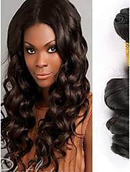Недорогие -4 Связки Малазийские волосы Свободные волны человеческие волосы Remy 200 g Человека ткет Волосы Пучок волос Накладки из натуральных волос 8-28 дюймовый Естественный цвет Ткет человеческих волос