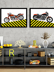 cheap -Framed Canvas Framed Set - Transportation Plastic Illustration Wall Art