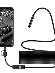 cheap -7 mm lens Industrial Endoscope 3 in 1 USB Endoscope Waterproof IP67 Hardwire Borescope Inspection Camera Snake Video Cam with 6 LED for Android PC