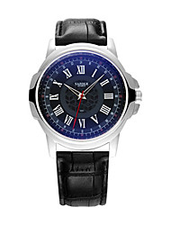 cheap -Men's Dress Watch Quartz Casual Casual Watch Analog White Black / One Year / Stainless Steel / Quilted PU Leather / Large Dial