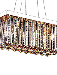 cheap -6-Light 20 cm Crystal Chandelier Metal Crystal Chrome Modern Contemporary 110-120V / 220-240V