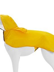 cheap -Dog Cat Rain Coat Solid Colored Waterproof Windproof Outdoor Dog Clothes Yellow Blue Costume Nylon PVA XS S M L XL XXL