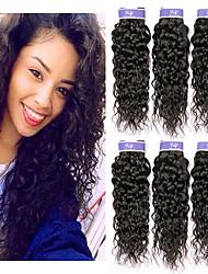cheap -6 Bundles Malaysian Hair Water Wave Unprocessed Human Hair 100% Remy Hair Weave Bundles Headpiece Natural Color Hair Weaves / Hair Bulk Bundle Hair 8-28 inch Natural Natural Color Human Hair Weaves