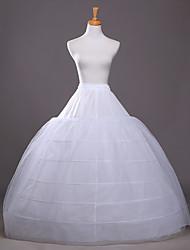 cheap -Bride Classic Lolita 1950s 6 Hoop Dress Petticoat Hoop Skirt Crinoline Women's Girls' Tulle Costume White Vintage Cosplay Wedding Party Princess