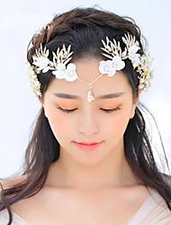 cheap -Headbands / tiaras / crown Hair Accessories Gold Pearl Wigs Accessories Women's 1 pcs pcs 13cm(Approx5inch) cm School / Quinceañera & Sweet Sixteen / Festival Headpieces Kids / Teen / Generic / Youth