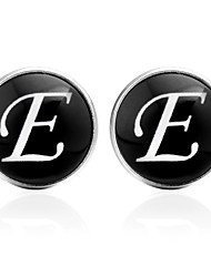 cheap -Cufflinks Alphabet Shape Formal Basic Brooch Jewelry Black Silver Brown For Daily Festival