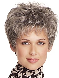 cheap -Synthetic Wig Bangs Curly Free Part Wig Short Light Brown Synthetic Hair 12 inch Women's Fashionable Design Women Synthetic Brown