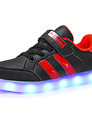 cheap -Boys / Girls USB Charging  LED / LED Shoes PU Sneakers Toddler(9m-4ys) / Little Kids(4-7ys) / Big Kids(7years +) LED Black / White Summer
