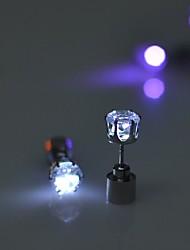 cheap -2pcs LED Grow Light Up Bright Dance Christmas Halloween Earring Ear Stud Earrings Luminous Glow
