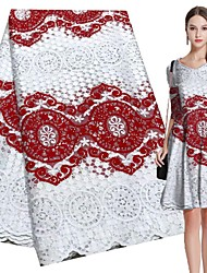 cheap -African lace Folk style Pattern 120-135 cm width fabric for Apparel and Fashion sold by the 5Yard